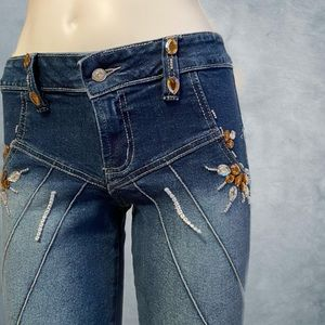 Y2K Flare Jewelled Jeans